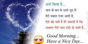 hindi shayari good morning