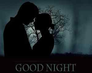 romantic love good night image