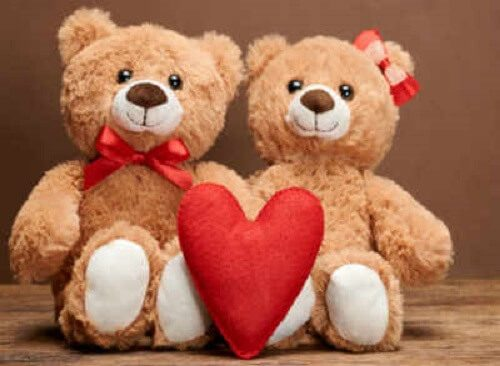teddy bear couple photo