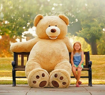teddy bear images with cute gril