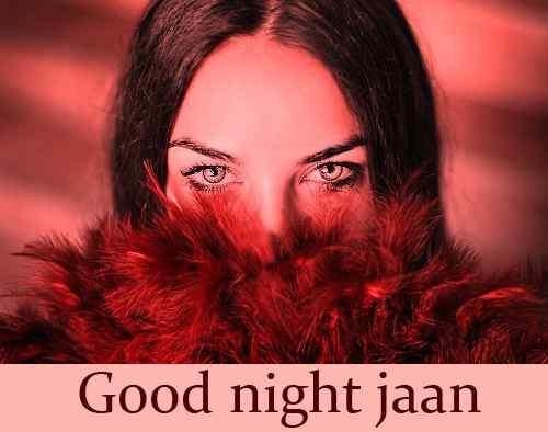 beautiuful girl with good night