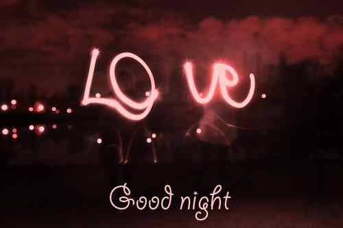 caption of love with good night image