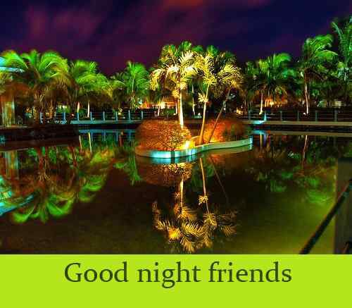 nice wallpaper of good night for friends