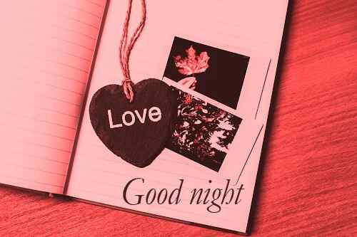 nice wallpaper of good night with heart